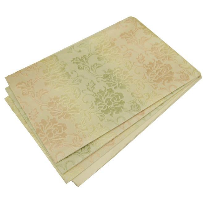 日本製●本場桐生織京袋帯 輝くグラデーションの唐草模様