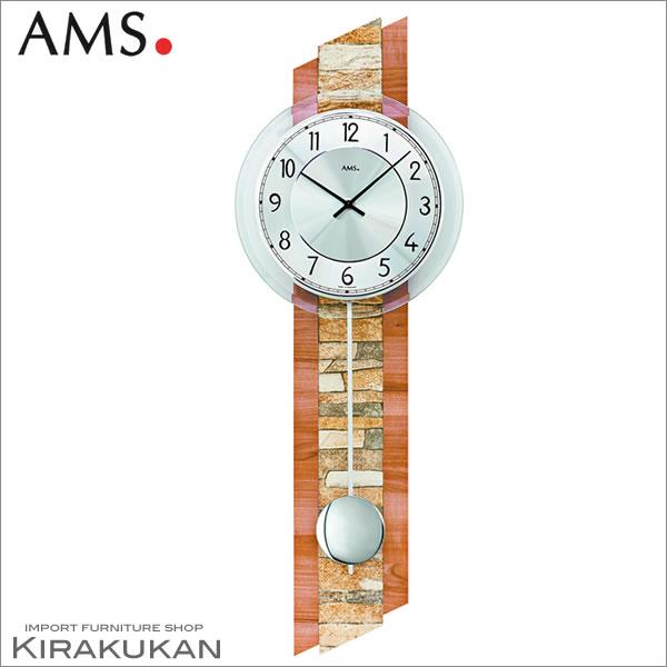 輸入時計【AMS(アームス社ドイツ製).クォーツ・壁掛け時計 AMS-7424】 【送料無料】 おしゃれ ドイツ製 時計 掛け時計 置時計 クラシック 時計 モダン 時計 ヨーロッパ時計 ヘルムレ アンティーク時計
