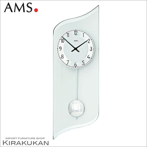 輸入時計【AMS(アームス社ドイツ製).クォーツ・壁掛け時計 AMS-7436】【送料無料】 おしゃれ ドイツ製 時計 掛け時計 置時計 クラシック 時計 モダン 時計 ヨーロッパ時計 ヘルムレ アンティーク時計
