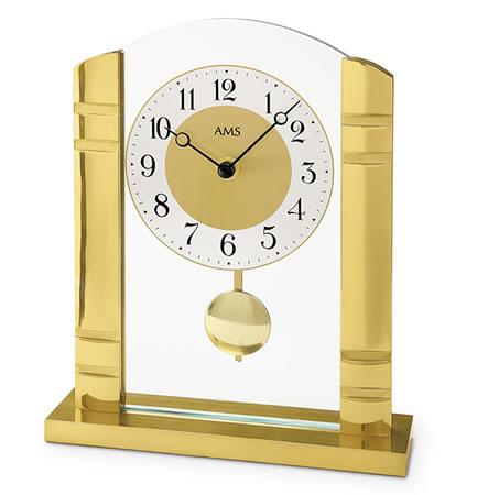 輸入時計【AMS(アームス社ドイツ製).クオーツ置き時計 AMS-1117】 【送料無料】人気 おしゃれ ドイツ製 時計 掛け時計 置時計 クラシック 時計 モダン 時計 ヨーロッパ時計 ヘルムレ アンティーク時計