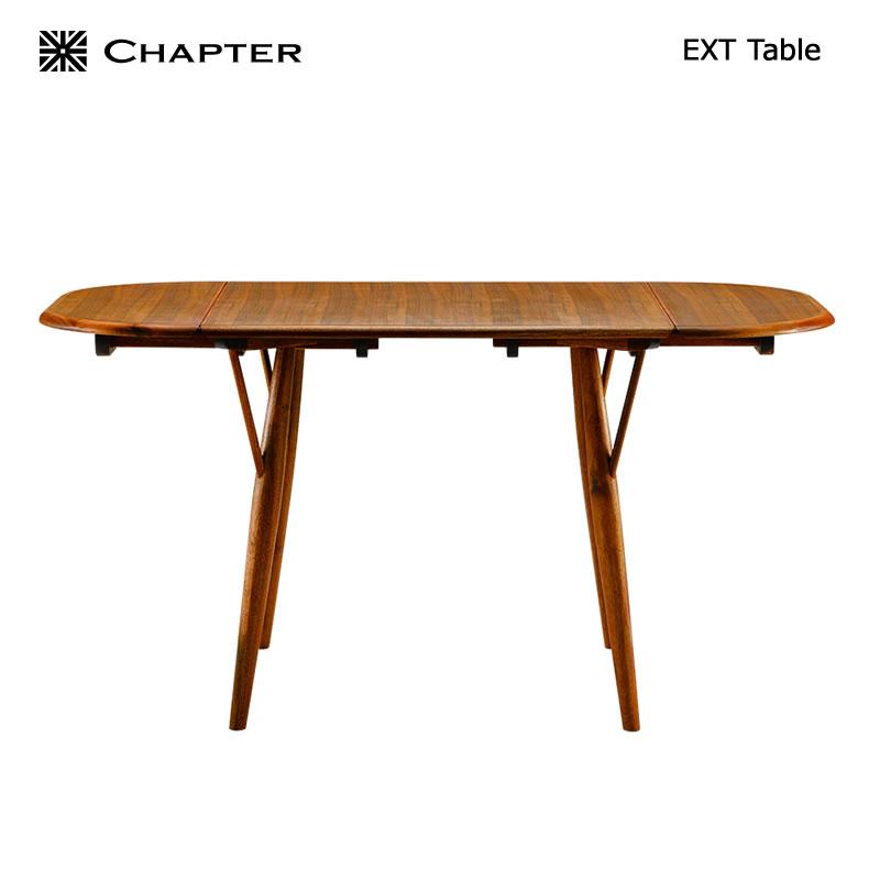【お得クーポン配布中】 英国スタイル家具 CHAPTER・チャプター ダイニングテーブル・食卓 伸縮 (伸張式 幅80〜140)【送料無料】EXT アンティーク家具調の現代のクラシック家具 北欧 ミッドセンチュリー ヴィンテージ家具 おしゃれ