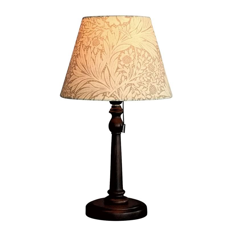 【お得クーポン配布中】 ウィリアムモリス 【テーブルランプ】『マリーゴールド・ベージュ』Marigold-B【送料無料】照明器具 アンティーク家具 おしゃれランプ 輸入 照明