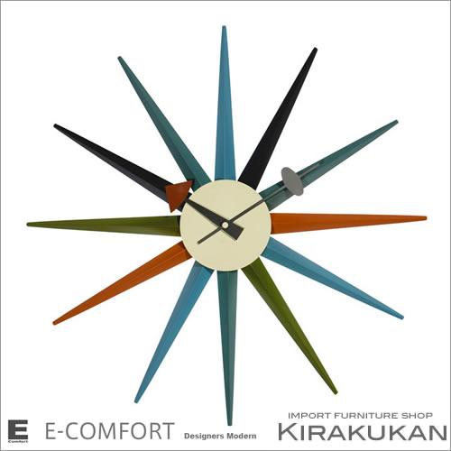 デザイナー家具【ネルソン クロック No.8 Sunburst】 【送料無料】人気 おしゃれ ブランド モダン 時計 アンティーク 時計 輸入時計 クラシック 時計 掛け時計 ヨーロピアン時計 インテリア雑貨