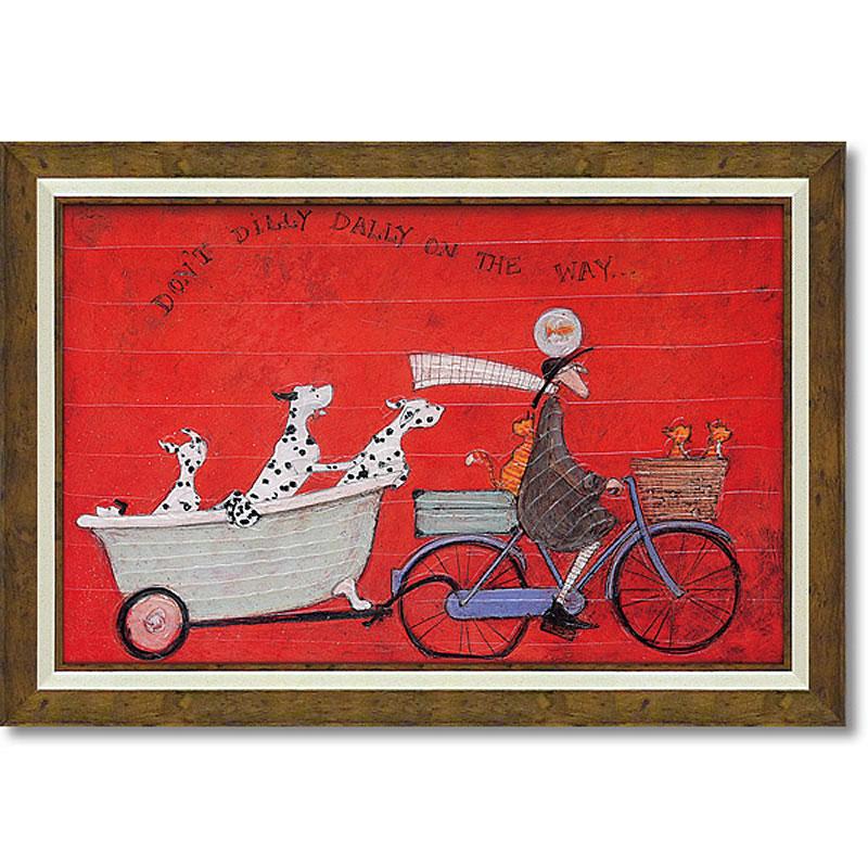 サムトフト「ドンド ディリダリー」Gel加工 Sam Toft 絵画 インテリア 壁掛け 絵画 額入り 絵画 ポスター 絵画 海 インテリア雑貨 アンティーク調 風景 動物 ヨーロピアン インポート 玄関 リビング ギフト 複製画 ポスター インテリア 北欧