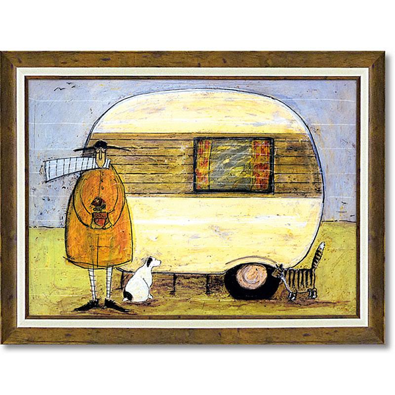サムトフト「ホーム フロム ホーム」Gel加工 Sam Toft 絵画 インテリア 壁掛け 絵画 額入り 絵画 ポスター 絵画 海 インテリア雑貨 アンティーク調 風景 動物 ヨーロピアン インポート 玄関 リビング ギフト 複製画 ポスター インテリア 北欧