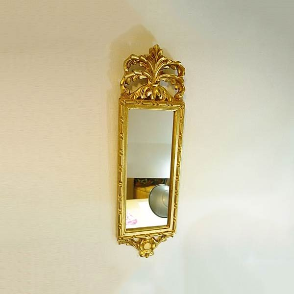 【お得クーポン配布中】イタリア製飾りミラー(ゴールド)【あす楽】 玄関に飾る鏡 ミラー 人気 おしゃれ イタリア製のおしゃれ ミラー 壁掛け アンティーク ミラー 壁掛け 鏡 全身鏡 姿見 ロココ クラシック 鏡 姿見 ミラー 全身 壁掛け アンティーク