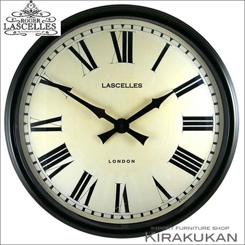 イギリス製【ロジャー・ラッセル時計【lm-lasc-black】 【送料無料】人気 おしゃれ ブランド モダン 時計 アンティーク 時計 輸入時計 クラシック 時計 掛け時計 ヨーロピアン時計 インテリア雑貨