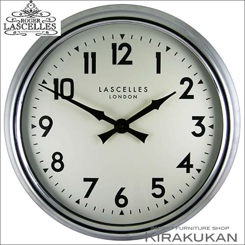 イギリス製【ロジャー・ラッセル時計【lm-lasc-chrome】 【送料無料】人気 おしゃれ ブランド モダン 時計 アンティーク 時計 輸入時計 クラシック 時計 掛け時計 ヨーロピアン時計 インテリア雑貨