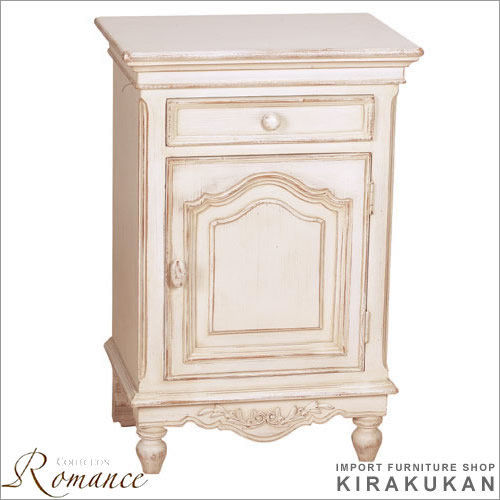 Country Corner Romance Collection Telephone Stand White Furniture Import ホワイトシャビー