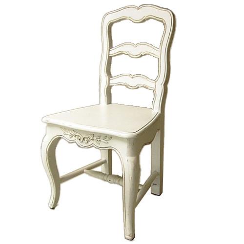 【お得クーポン配布中】 カントリーコーナー Country Corner ロマンスコレクション 白家具 ダイニングチェア 椅子 ホワイト【送料無料】