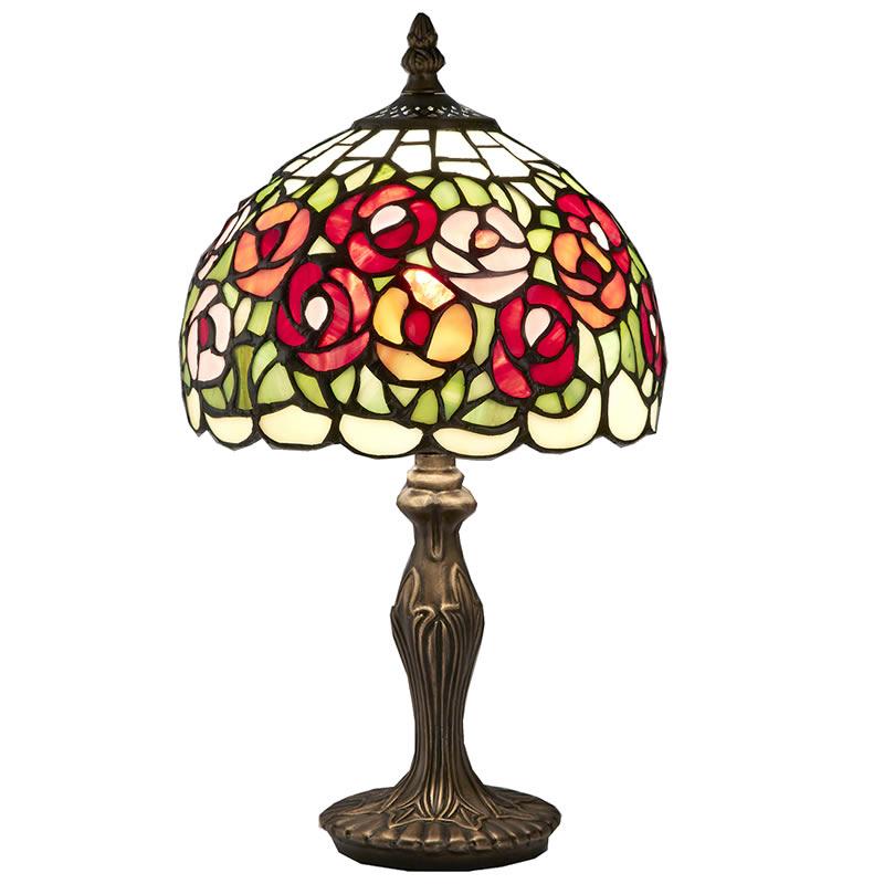 【お得クーポン配布中】ステンドグラス ランプ スタンド 薔薇 サークルローズ【送料無料】LED球使用可 ステンド ランプ テーブルランプ ランプシェード ステンドグラス 人気 おしゃれ 雑貨 ヨーロピアン アンティーク風 インポート 照明器具