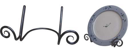 【お得クーポン配布中】 アイアン【プレート ホルダー スタンド】ロートアイアン フック スタンド ハンガー ラック 鉄 プレート ホルダー ハンドメイド カナダ製 インテリア雑貨 おしゃれ 置物 アンティーク 小物