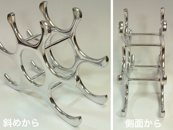 300 sale total breakthrough ...! Import miscellaneous goods: A wine rack: Wine holder (product made in aluminum die-casting) now is wine wine interior ornament kiraku