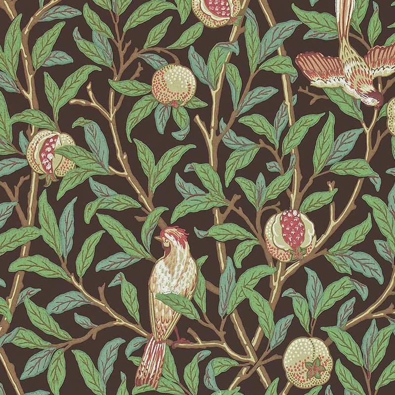 【お得クーポン配布中】ウィリアムモリス 壁紙【鳥とザクロ Bird & Pomegranate】【送料無料】おしゃれ 壁紙 ウォールペーパー クロス 輸入壁紙 イギリス製 アンティーク 壁紙 植物 インテリア 本物 Morris【darw212537】