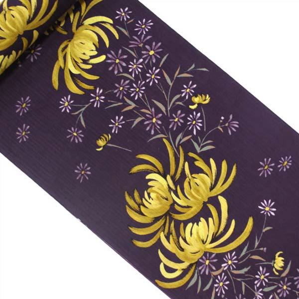 【花みつこ】レディース浴衣 <紫> 菊柄 【送料無料・仕立代込】020 351 ※ゆうパケット不可