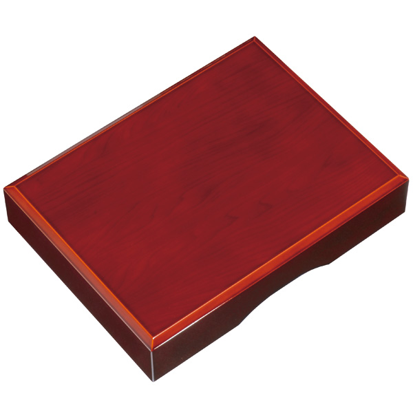 木製 かぶせ文庫 春慶塗り 33cm (書類入れ、書類整理)