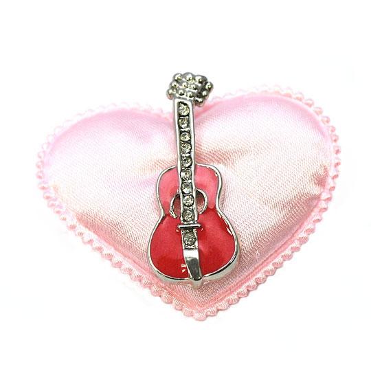 人気アイテム☆ ギターのピンブローチ 完売 ネクタイピン タックピン 低価格