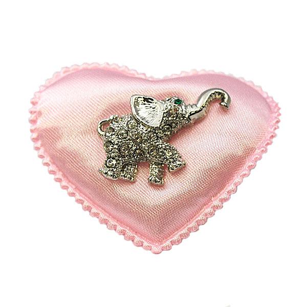 きらきらゾウさんのピンブローチ ゾウのピンブローチ 安全 ネクタイピン 上等 タックピン