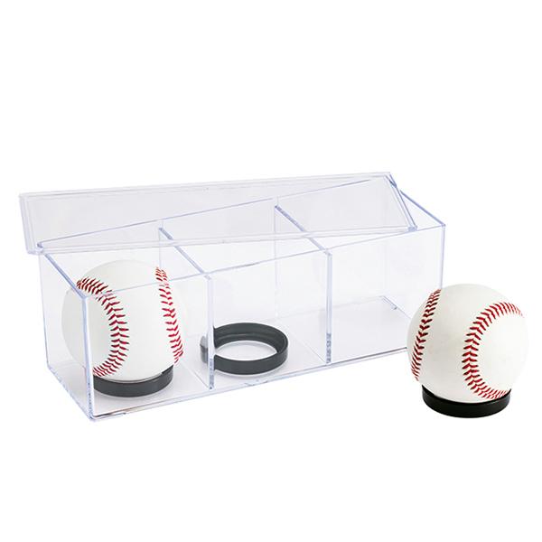 サイン入りベースボールが3個展示できます上蓋付きで出し入れが便利 スーパーセール期間限定 積み重ねもできます 気質アップ ベースボール3P ケース コレクションケース 小物 プラスチック