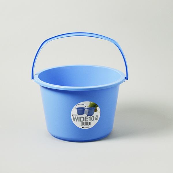 厚手で丈夫な耐久性にすぐれたポリプロピレン製 直営ストア 使いやすい広口型プラスチック 洗車 低廉 掃除 ぞうきん 10L ポリバケツ 自社工場製造直販 広口 バケツ
