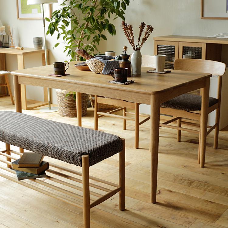 ダイニングテーブル Astef(アステフ) ダイニングテーブル 食卓テーブル テーブル 食卓 四角 机 135cm 4人 ダイニング キッチン 木製 北欧 ナチュラル 無垢材 木製テーブル