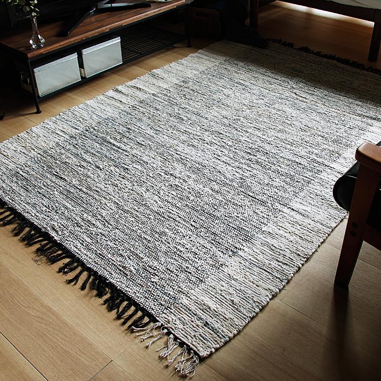 ラグマット DENIM RUG ラグマット ラグ マット 絨毯 カーペット じゅうたん 床暖房 ホットカーペット ヴィンテージ モダン 北欧 西海岸 ナチュラル 140×200cm デニム リサイクルデニム デニムラグ