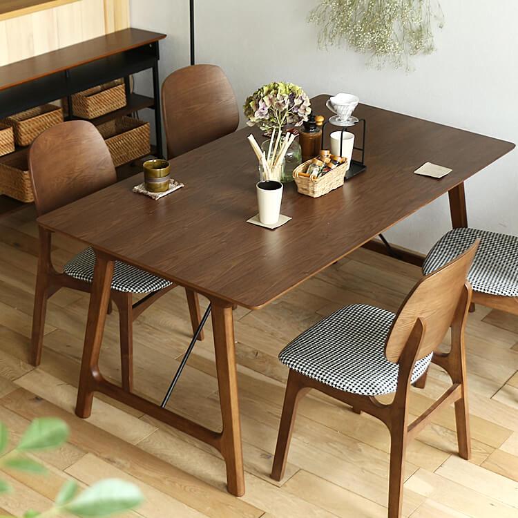 ダイニングテーブル BALD(バルド) ダイニングテーブル テーブル 食卓テーブル 食卓 長方形テーブル 机 四角 長方形 160cm 4人 ダイニング キッチン 木製 北欧 ナチュラル 食卓 木製テーブル ブラウン ウォールナット