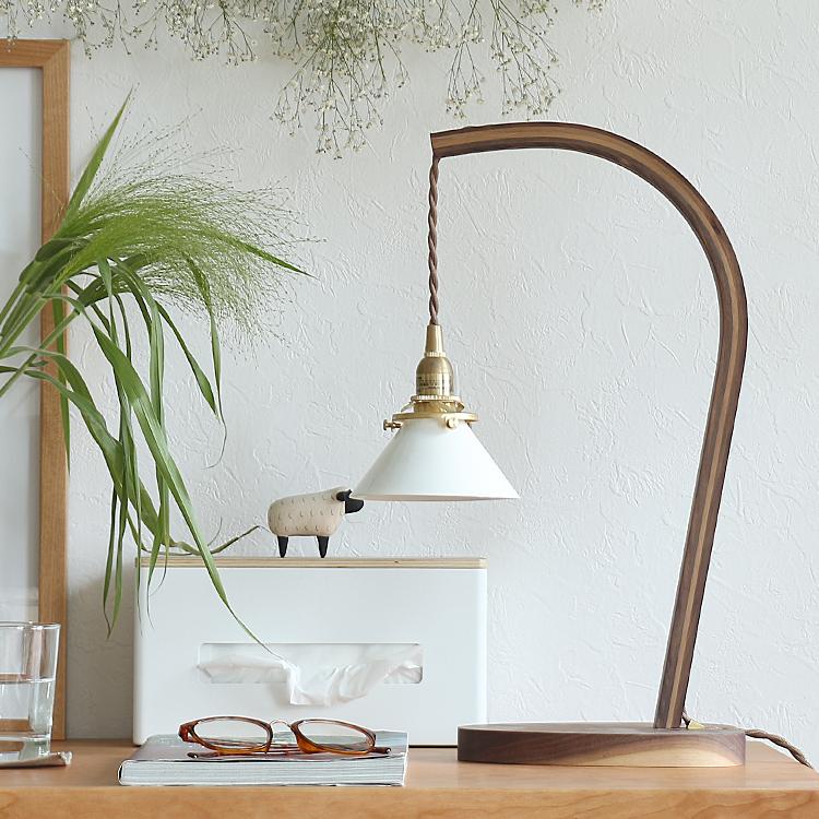テーブルランプ Bawa(バウア)Aタイプ 照明 間接照明 テーブルランプ デスクランプ 西海岸 モダン 北欧 ナチュラル ベッドサイド リビング カフェ ヴィンテージ ガレージ インダストリアル 木製 LED電球 led
