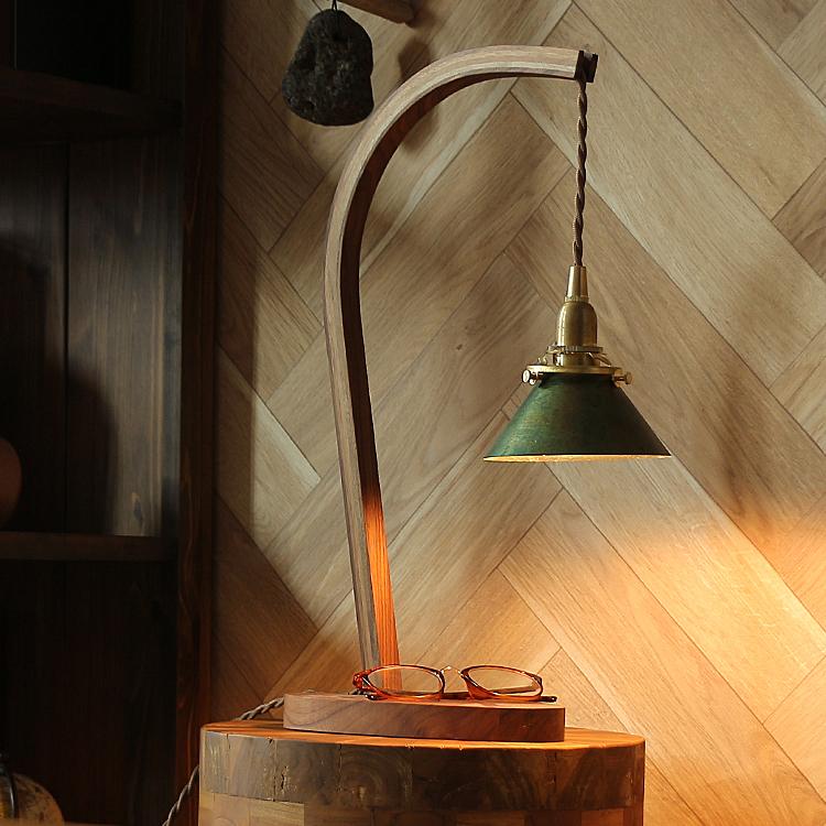 テーブルランプ Bawa(バウア)Cタイプ 照明 間接照明 テーブルランプ デスクランプ 西海岸 モダン 北欧 ナチュラル ベッドサイド リビング カフェ ヴィンテージ ガレージ インダストリアル 木製 LED電球 led