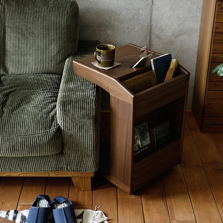 サイドテーブル ECHO(エコー) サイドテーブル テーブル キャスター キャスター付き 木製 ベッドサイドテーブル ナイトテーブル サイドワゴン table ソファ ベッド サイド おしゃれ 収納