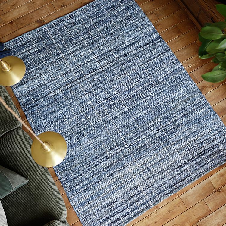 ラグマット HARRIS DENIM RUG ラグマット デニム ラグ カーペット 絨毯 140×200 西海岸 ヴィンテージ 長方形 RECYCLE DENIM RUG おしゃれ おすすめ ブルー