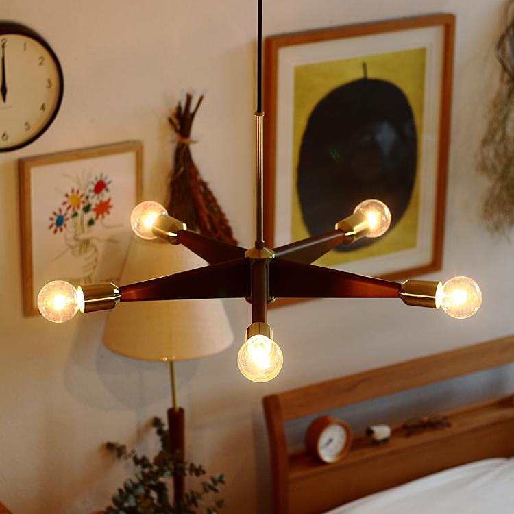 ペンダントライト Hurst(ハースト) 照明 天井照明 照明器具 ライト 5灯 星 レトロ アンティーク おしゃれ リビング 寝室 ダイニング ペンダントライト ペンダントランプ 6畳 8畳 10畳 北欧 シンプル 人気 かわいい