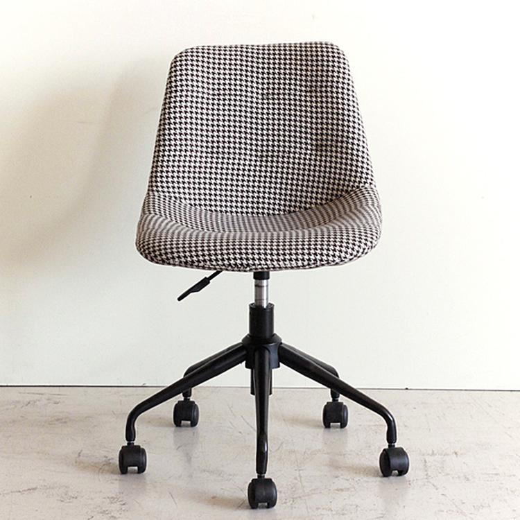 ピケ オフィスチェアー パソコンチェア オフィスチェア デスクチェア 肘なし チェアー ワークチェア 椅子 イス チェア chair おしゃれ かわいい モダン キャスター付き コンパクト 千鳥柄 おすすめ PICUE CHAIR 新生活