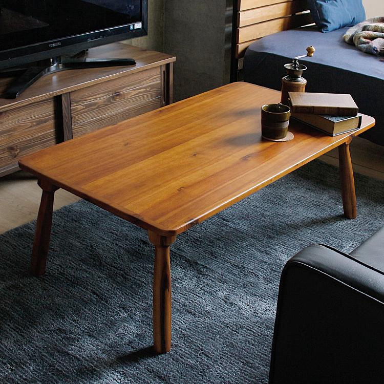 こたつテーブル Somom(ソモム) 長方形 105cm こたつ テーブル 長方形 105 105×60 北欧 ヴィンテージ 西海岸 インテリア レトロ こたつテーブル 木製 おしゃれ アカシア