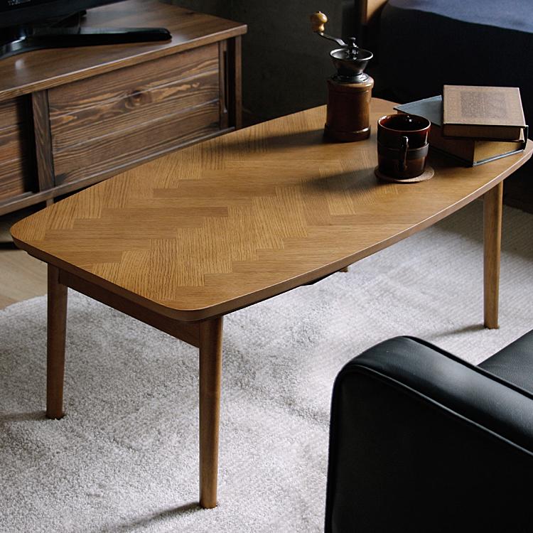 折りたたみこたつテーブル ABERR(アベール) 長方形 90cm こたつ テーブル 長方形 ヘリンボーン 折りたたみ折りたたみ式 90 北欧 ヴィンテージ 西海岸 インテリア レトロ こたつテーブル 木製 おしゃれ