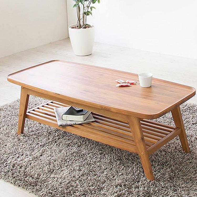ヴァルト リビングテーブル テーブル 木製 アカシア コーヒーテーブル センターテーブル レトロ 北欧 カフェテーブル リビングテーブル 机 デスク センターテーブル