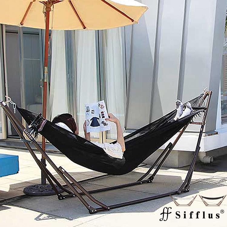 Sifflus自立式ポータブルハンモックゆらり A-1 Sifflus シフラス自立式ハンモック 屋内 屋外 アウトドア ブラック レッド グリーン ホワイト ハンモック ヴィンテージ ガーデンハンモック 室内ハンモック 北欧