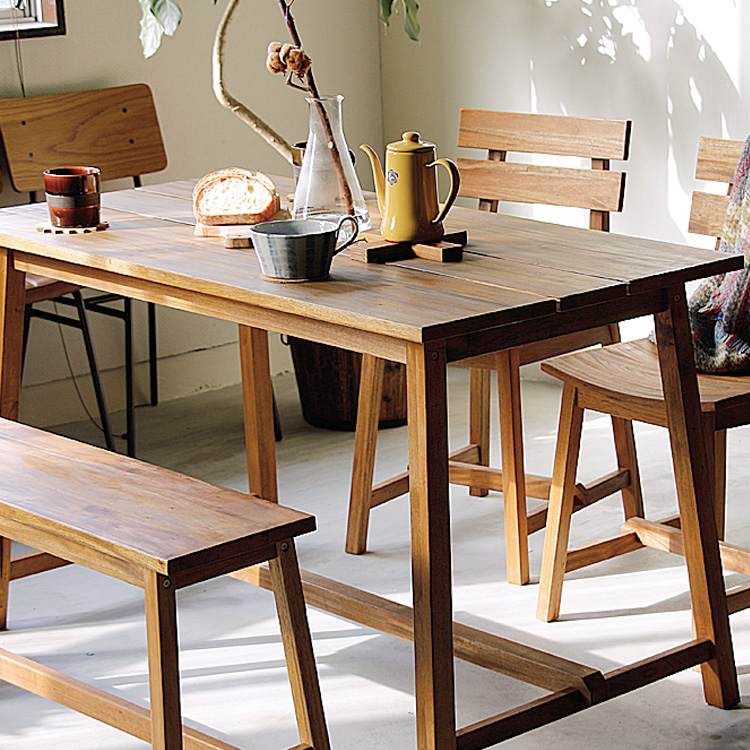 ダイニングテーブル Jard(ジャルド) ダイニングテーブル 食卓 テーブル 120cm 120 ダイニング テーブル 木製 ナチュラル 北欧 カントリー 4人用 西海岸 ミッドセンチュリー カフェ マホガニー