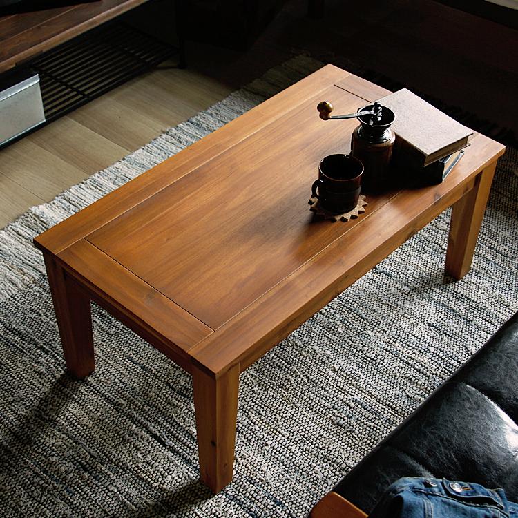 センターテーブル Draw(ドロウ)90cmタイプ センターテーブル 幅90 ローテーブル リビングテーブル テーブル 木製 アカシア 北欧 ナチュラル ブラウン おしゃれ ヴィンテージ ビンテージ ブラウン