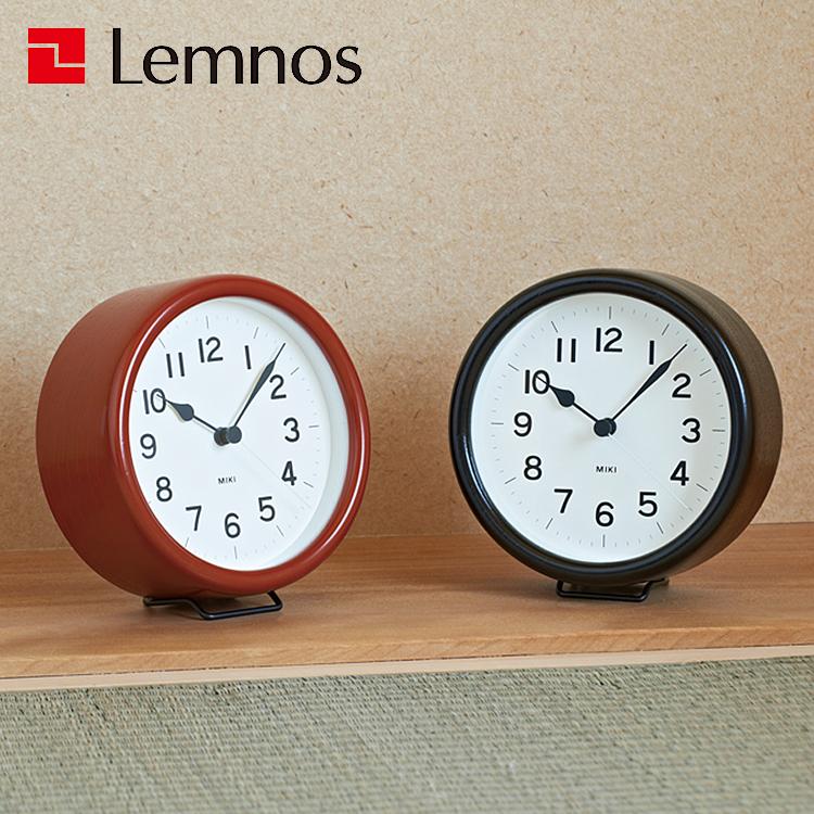 置き時計 MIKI URUSHI 掛け ウォールクロック レムノス 置き時計 Lemnos 漆塗り うるし塗り オシャレな時計 おしゃれな時計 お洒落な時計 庄川挽物木地 レッド 赤 ブラック 黒 掛け時計 北欧 おしゃれ ケヤキ