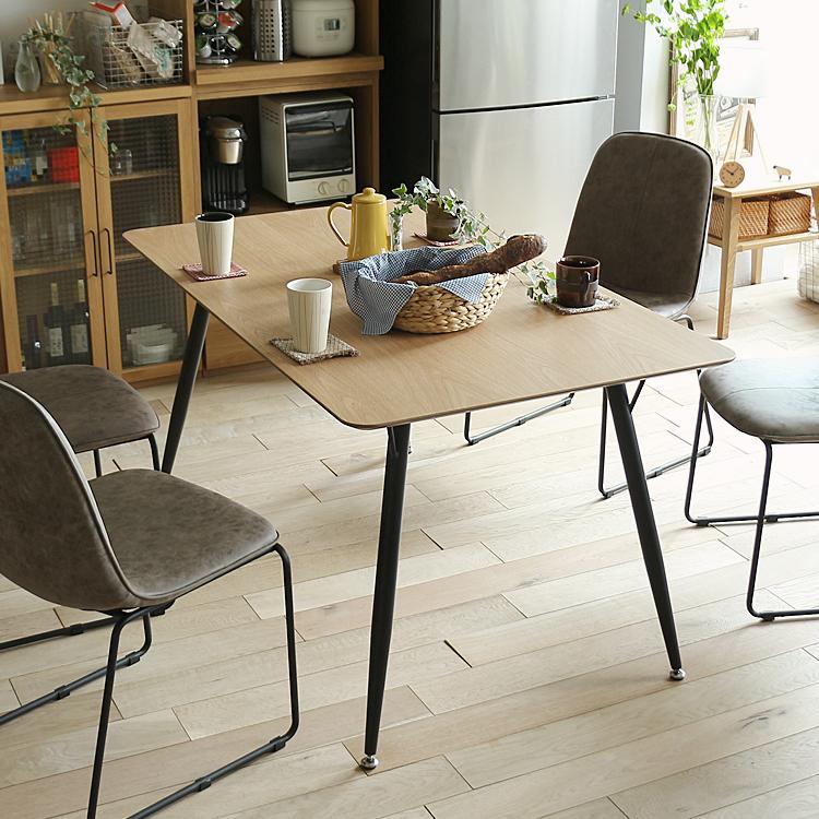 ダイニングテーブル LODY(ロディー) ダイニング テーブル ダイニングテーブル キッチン 食卓 木製 4人 テーブル 食卓テーブル 北欧 西海岸 モダン カフェ 男前 インテリア 135 135cm ヴィンテージ