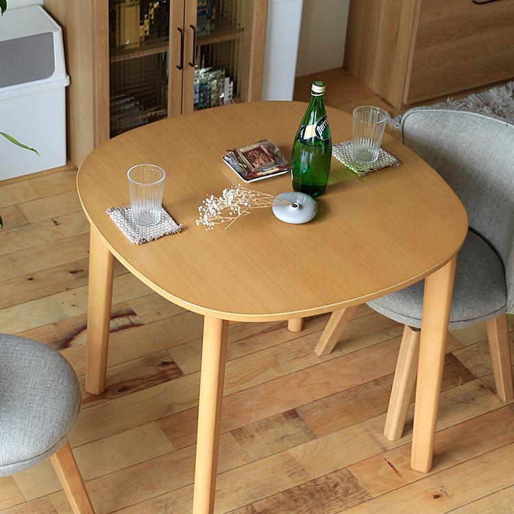 円形ダイニングテーブル CIEL(シエル) 直径80cm ダイニングテーブル 円形 テーブル 丸テーブル 円形テーブル 丸 丸型 机 食卓 80cm 2人 ダイニング キッチン 木製 北欧 ナチュラル 食卓 木製テーブル