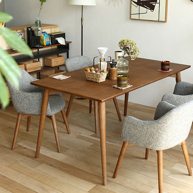 ダイニングテーブル Orois(オロワーズ) ブラウンタイプ ダイニングテーブル 食卓テーブル 150cm 150 ダイニング テーブル 木製 ウッド アッシュ 北欧 4人用 西海岸 ミッドセンチュリー カフェ ブラウン