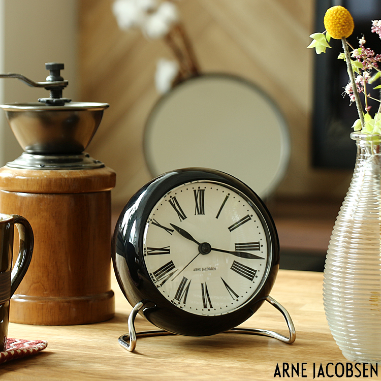 置き時計 アルネ [宅送] 人気 ヤコブセン ROMAN TABLE CLOCK ローマン 目覚まし時計 北欧 テーブルクロック