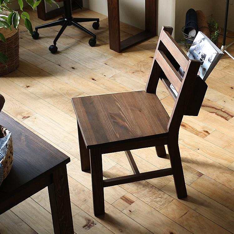 ブックラック付きダイニングチェア SOME(サム) ダイニングチェア ダイニングチェアー チェアー チェア 食卓 キッチン 椅子 イス ブラウン 北欧 木製 収納 ブックラック