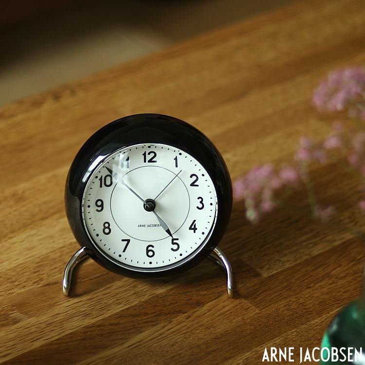 置き時計 激安通販販売 アルネ ヤコブセン STATION TABLE CLOCK 目覚まし時計 ステーション 登場大人気アイテム テーブルクロック 北欧