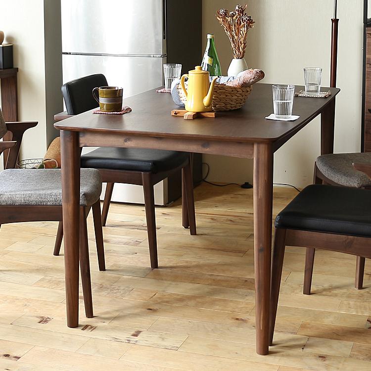 ダイニングテーブル TONY(トニー)135cmタイプ ダイニングテーブル テーブル 食卓テーブル 食卓 長方形テーブル 机 四角 長方形 135cm 4人 3人 ダイニング キッチン 木製 北欧 ナチュラル 食卓 木製テーブル ブラウン
