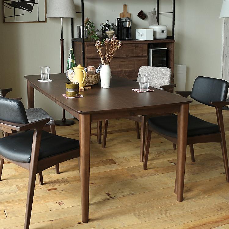 ダイニングテーブル TONY(トニー)150cmタイプ ダイニングテーブル テーブル 食卓テーブル 食卓 長方形テーブル 机 四角 長方形 150cm 4人 3人 ダイニング キッチン 木製 北欧 ナチュラル 食卓 木製テーブル ブラウン