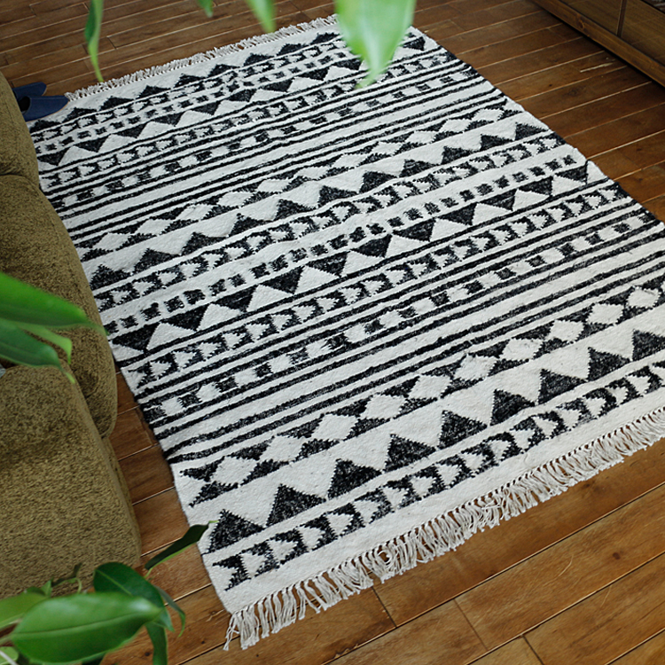 ラグマット WOOL FOLK STRIPE RUG ラグマット ラグ マット 絨毯 カーペット じゅうたん 床暖房 ホットカーペット ヴィンテージ モダン 北欧 西海岸 ナチュラル ウール WOOL FOLK STRIPE RUG キリム 幾何学