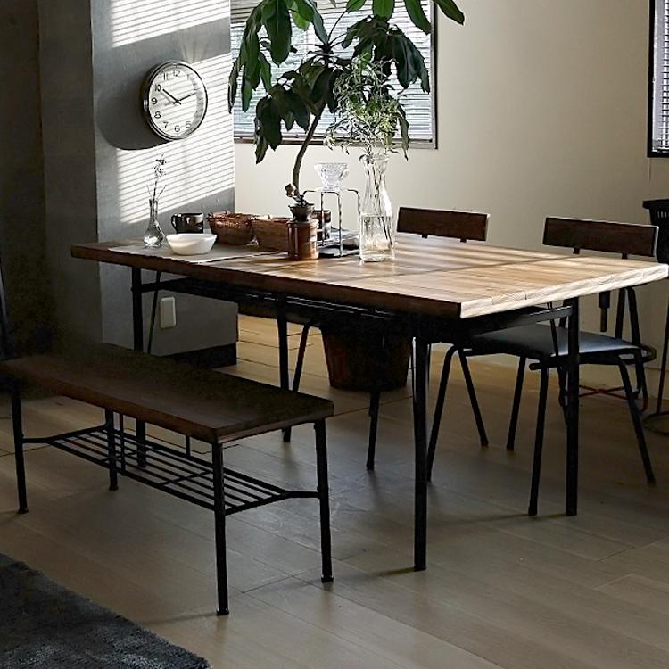ダイニング4点セット KeLT(ケルト) ※テーブル幅160cmタイプ ダイニングセット ダイニング4点セット 4点セット ダイニングテーブル ダイニングチェア 4人 食卓 食卓テーブル 食卓セット 無垢材 アンティーク レトロ